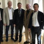 17. März 2017: 5 Stadtpräsidenten an der GV der Kraftwerk Schaffhausen AG (Peter Neukomm, Max Hess, Marcel Wenger, Felix Schwank, Thomas Feurer)
