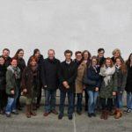 Oberbürgermeister Bernd Vöhringer am 29.01.2016 mit seinen engsten Mitarbeitenden auf Besuch im Kraftwerk Schaffhausen (ganz echts Bernhard von Felten, Leiter Kraftwerkanlagen SH POWER)
