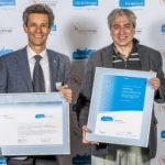 17.10.2016: Stadtpräsident Peter Neukomm und Stadtökologe Dr. Urs Capaul dürfen am 17.10.2016 im KKL in Luzern einmal mehr das Energiestadtlabel Gold des Trägervereins Energiestadt und des Forums European Energy Awards entgegen nehmen.