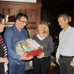 Neujahrsempfang SPD-Fraktion Singen: Monika Lacher (SP-Präsidentin Schaffhausen), Kantonsrat Patrick Portmann, Regina Brütsch (SPD-Fraktionsvorsitzende Singen) und Peter Neukomm (Stadtpräsident Schaffhausen)