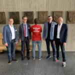14.06.2019: Schaffhauser Delegation im Rathaus Sindelfingen (mit Stadtrat Daniel Preisig, Rolf Amstad, Wolfgang Schlatter, Grossstadratspräsident Hermann Schlatter)