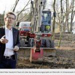 """Renaturierungsprojekt mit Kinoeintrittsgeldern: Anlässlich des Spatenstichs für den Amphibienweiher """"Bruggechopf"""" in Schlatt vom 17.03.2017"""