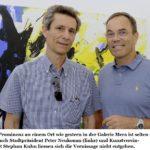 11.09.2016: Zusammen mit Stephan Kuhn, Präsident Kunstverein, an der Vernissage Erwin Gloor in der Galerie Mera