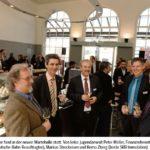 Zusammen mit Jugendstaatsanwalt und Grosstadtrat Peter Möller, Jürgen Lange (Beauftragter DB), Markus Streckeisen und Remo Zberg (SBB-Immobilien) an der Einweihungsfeier vom 05.03.2014