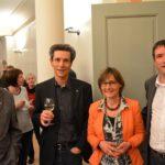 SP Parteitag im Hotel Rüden: Zusammen mit Alt-Regierungsrat Ernst Neukomm, Nationalrätin Martina Munz und SPS-Präsident Christian Levrat, Ständerat Freiburg.