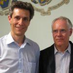 Mit Alt-Bundesrat Moritz Leuenberger anlässlich des Jubiläums 10 Jahre Silberfüchse vom 13.06.2014 im Saal des Restaurants Altes Schützenhaus