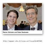 Bürgermeister Marian Schreier zusammen mit Peter Neukomm am Empfang zur Eröffnung des Bachfests am 09.05.2018